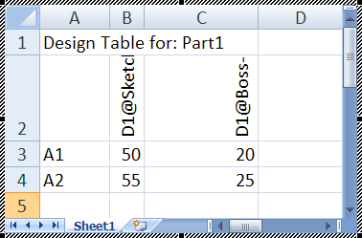 Design Table Solidworks using solidworks design tables in assemblies youtube Bills Of Materials Design Tables