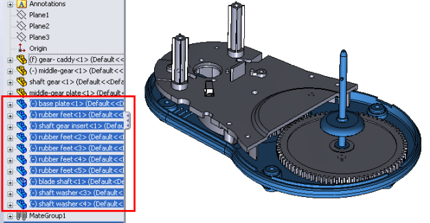 how to move parts in assembly solidworks